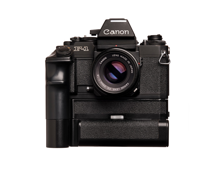 Vintage Camera Canon F-1N Front View