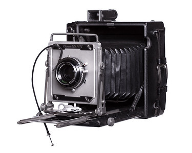 Vintage Camera Crown Graphic Left Side View