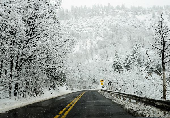 Snow in Oak Creek