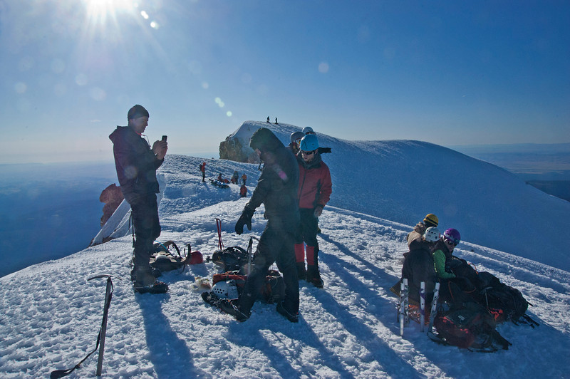 These hikers started between 1 and 3 a.m. to make the summit by 7 a.m.