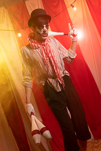 Goth clown juggler