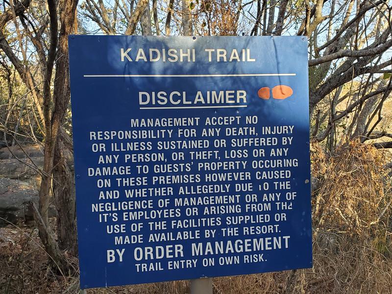 Kadishi Trail Sign