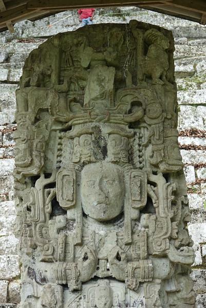 Pillar at Copan Ruins