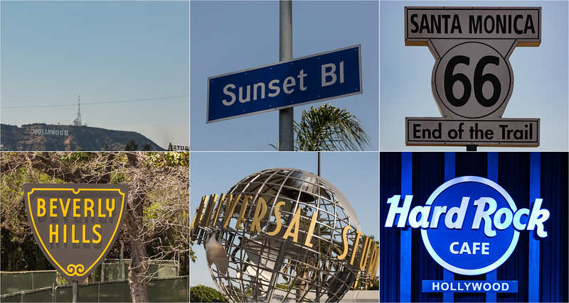 The signs of LA