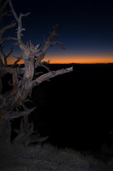Telescope Peak Trail - Death Valley - California<br /> Looking east before sunrise