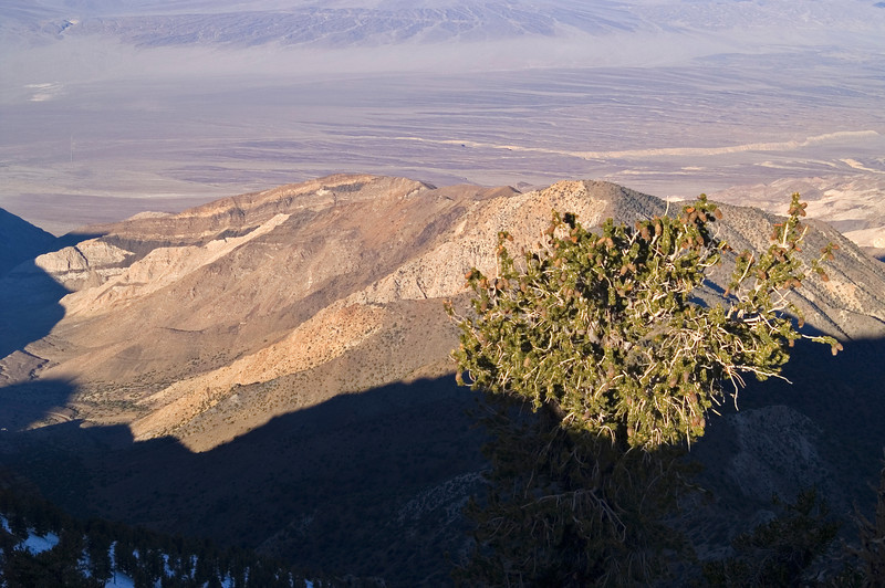Telescope Peak Trail - Death Valley - California<br /> View down to Panamint Valley