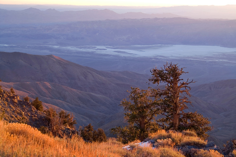 Telescope Peak Trail - Death Valley - California<br /> Looking down into Death Valley after sunrise