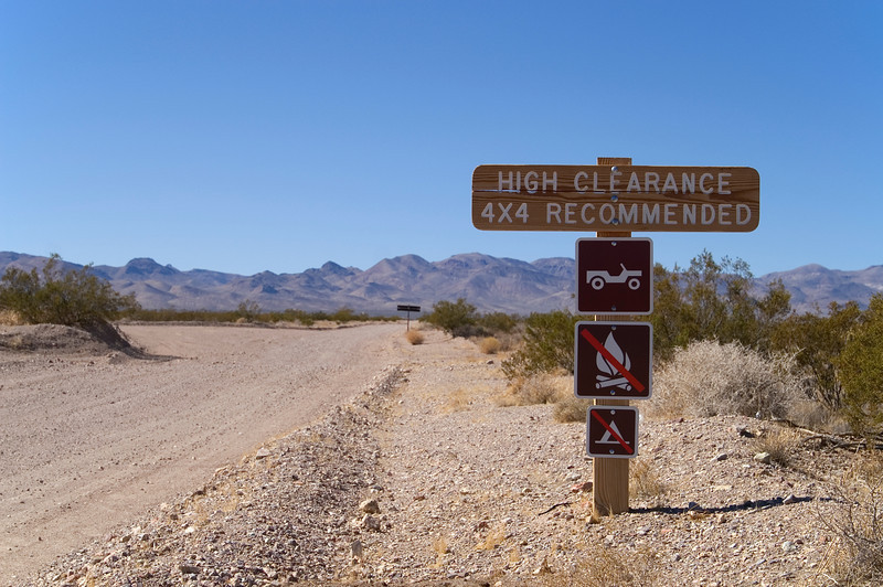 Start of track to Titus Canyon - Death Valley - California