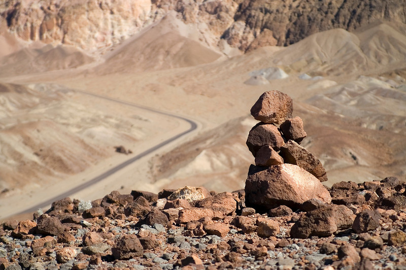Above road to Artist Drive - Death Valley - California