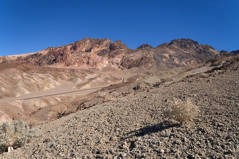 Above Artist Drive - Death Valley - California