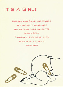 Molly 1 Birth Announcement
