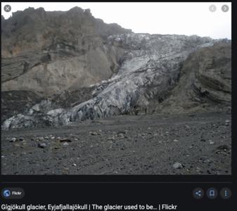 Gigjokull glacier