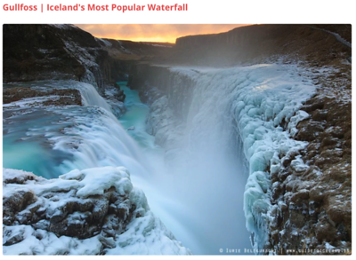 Gullfoss waterfall 1