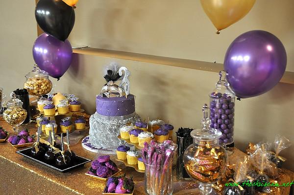 All Black Masquerade Party: Celebrating Andrea's  25th Birthday @ The Omega Psi Phi Inc Center 12.3.16