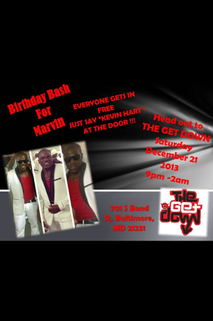 Birthday Bash For Marvin @ The Get Down 12.21.13