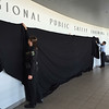 Unveiling of the 7 piece commissioned Glendale Regional Public Safety Training Center gallery during media event.