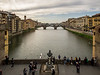 View from Corridor at midpoint of the Ponte Vecchio