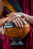 Monks live a simple life.  Possessions such as Alms bowls must be given to them by a sponsor.