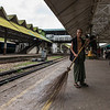The Myanmar train station and platforms were much cleaner than what one might expect...especially considering available equipment.