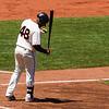 Pablo Sandoval in Pre-Batting Routine<br /> <br /> Giants vs Dodgers<br /> June 27th 2012<br /> AT&T Park<br /> San Francisco, CA