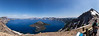 Panorama of Crater Lake and Wizard Island
