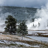 Geysers of Yellowstone Valley on Crisp Morning