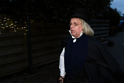 Scrooge at the Dickens Festival in Vessem