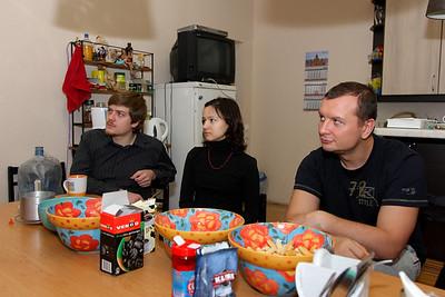Left-to-right: Anton, Tatiana, Anatolii