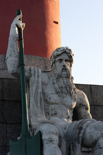 Statue at one of the Rostral Columns