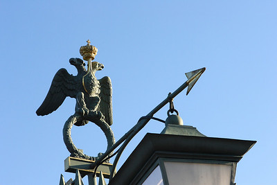 Lamp post on the bridge to the Peter and Paul's Fortress