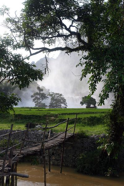 Ban Gioc waterfall at the Chinese border