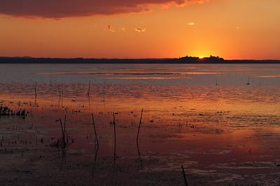 Sunset at lago Trasimeno from Sant'Arcangelo