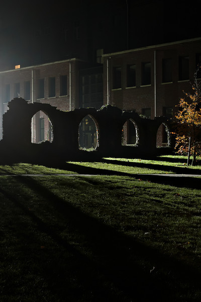 Remainders of the convent of Marienhage beautifully lit