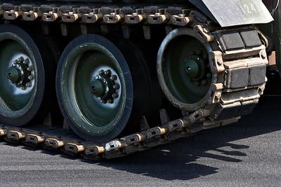 Detail van een Leopard tank