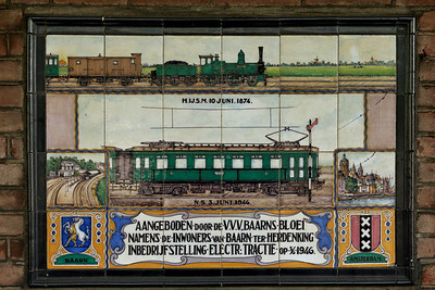 A celebration plaque at the station of Baarn