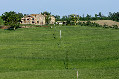 View from our agriturismo near Aquapendente
