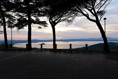 View of Lago Bolsena from Montefiascone