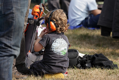 Too much noise for his ears at the airshow