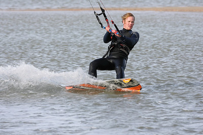Kite surfen bij Neeltje Jans