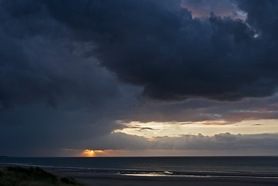 Zonsondergang bij Neeltje Jans