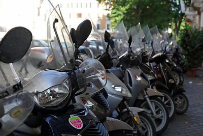 The famous Italian scooters