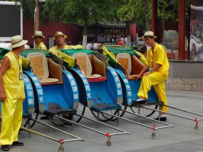 De lokale taxi's