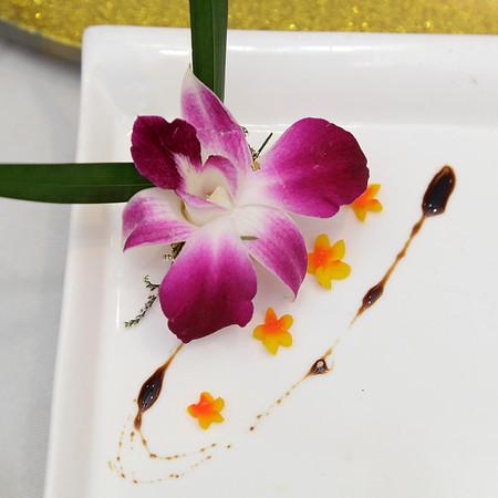 Een mooi versierde bord
