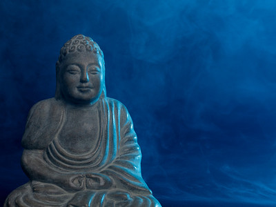 Buddha with smoke