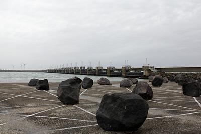 The Oosterschelde storm surge barrier