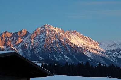 Sunrise in the Wilder Kaiser Gebirge near Soll