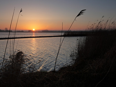 Sunrise near Werkendam in De Biesbosch