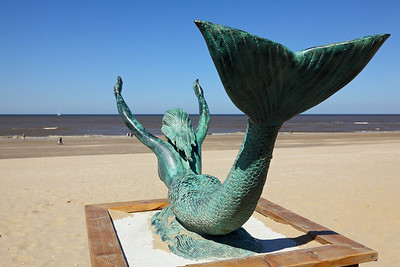 A mermaid at the beach of Noordwijk