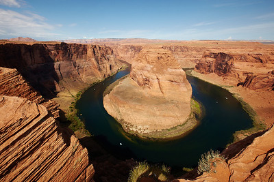The traditional shot at Horseshoe Bend