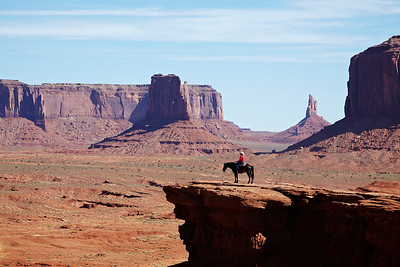 A lonely cowboy (actually I think it was an Indian) in Monument Valley.